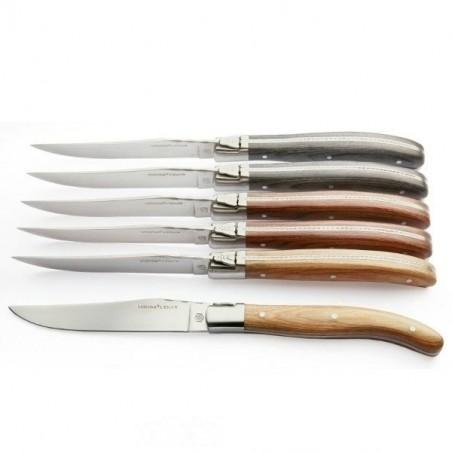 Coffret 6 couteaux Histoire manche bois assortis