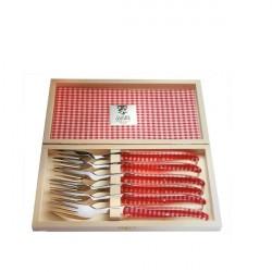 Coffret Excellence 6 fourchettes Vichy