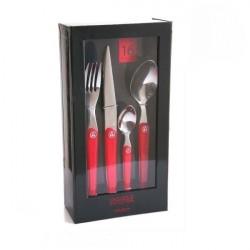 Coffret luxe design 16 pièces Cristal rouge