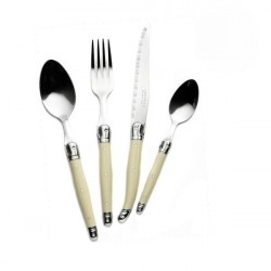 24-piece ivory pearl design cutlery set