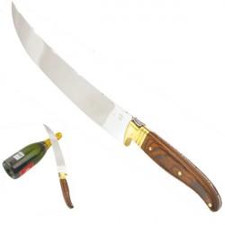 Laguiole saber wood handle