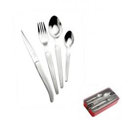 16 pieces Cristal Laguiole designer boxed set , matt stainless steel