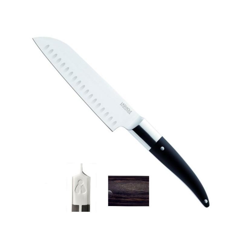 Couteau Santoku Expression 34/18cm, manche mélange backélite, bois, résine