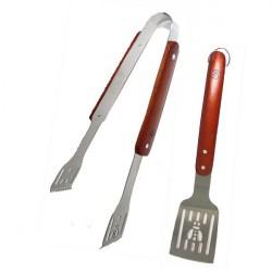Lot pince et spatule inox barbecue Laguiole