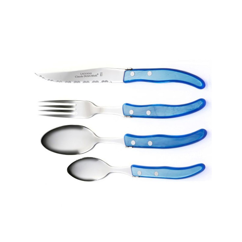 24 piece Luxury boxed set of azure handle