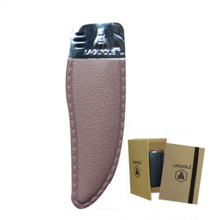 Lighter leather aspect,  electronic flame, brown taupe
