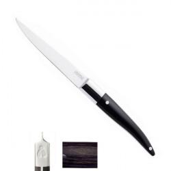Couteau Steak Laguiole Expression, à l'unité, manche mélange bakélite, bois, résine