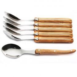 Coffret Excellence 6 grandes cuillères bois d'olivier