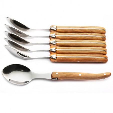 Cofanetto Excellence 6 Cucchiaini legno d'ulivo