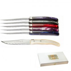 Luxury boxed of 6 Excellence knives. Very trendy, Purple tones