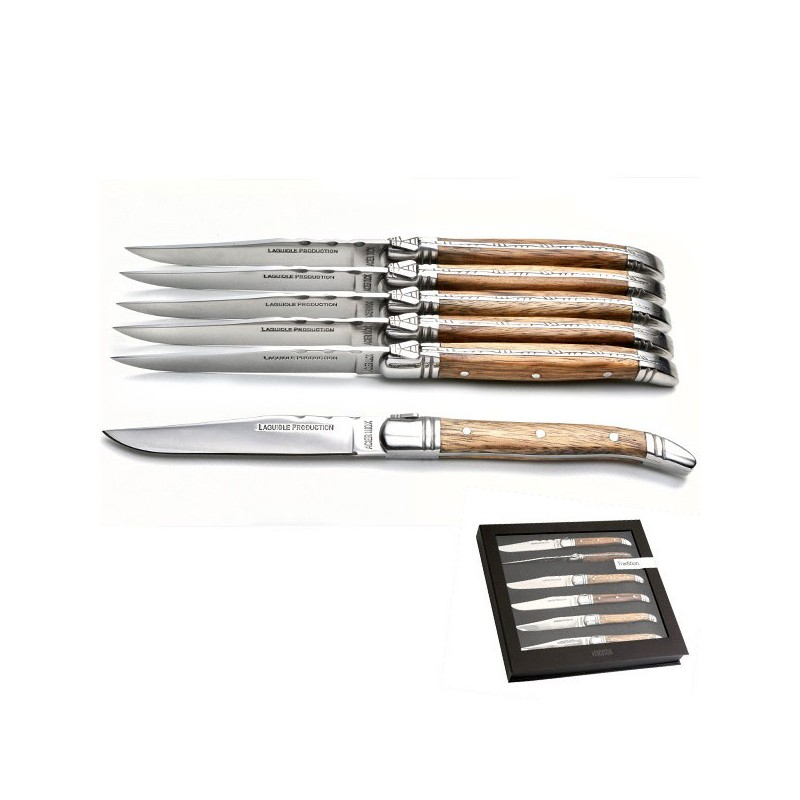 6 teiliges Messerset mit Holzgriff