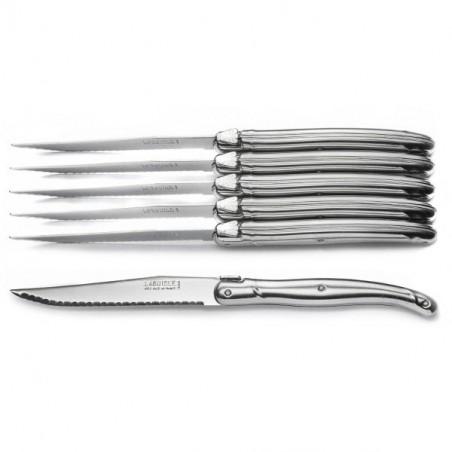 Block 6 knives, stainless steel, handmade
