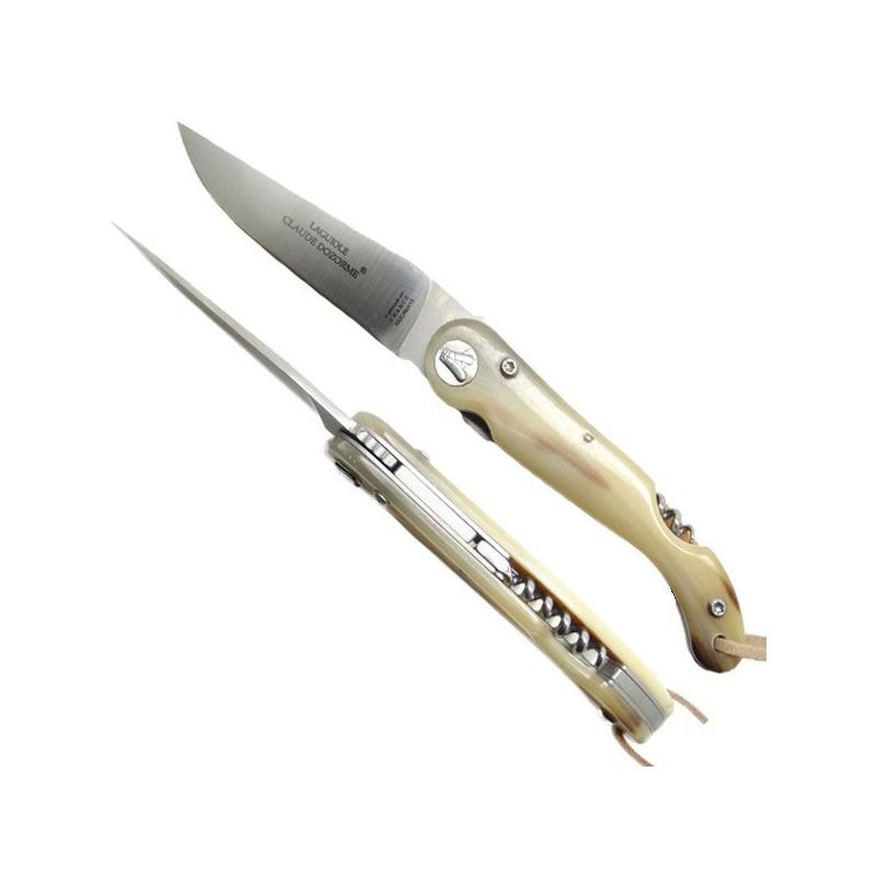Coltello sommelier Collection corno chiaro, con cavatappi