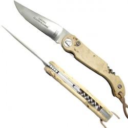 Sommelier Messer mit Korkenzieher, Birkenholz