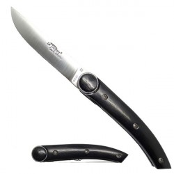THIERS Messer, Ebenholz griff, Mit einem Knopf.