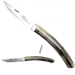 THIERS knife with corkscrew, horn handle