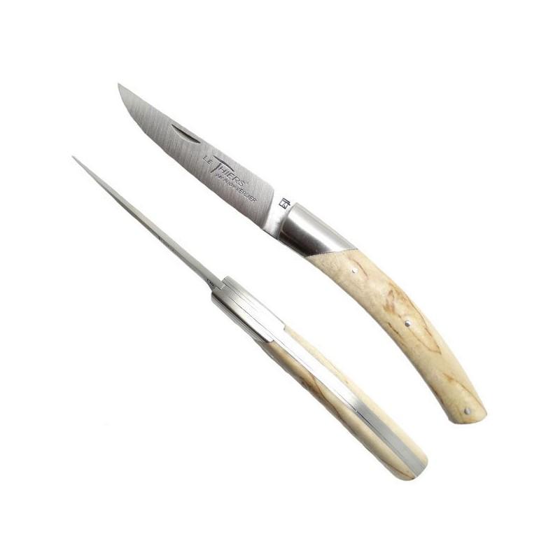 THIERS Messer, Birkenholz Griff