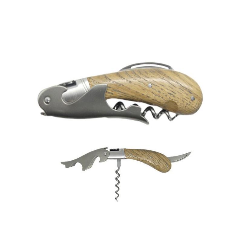 Sommelier Laguiole Magnum, mango de madera de roble