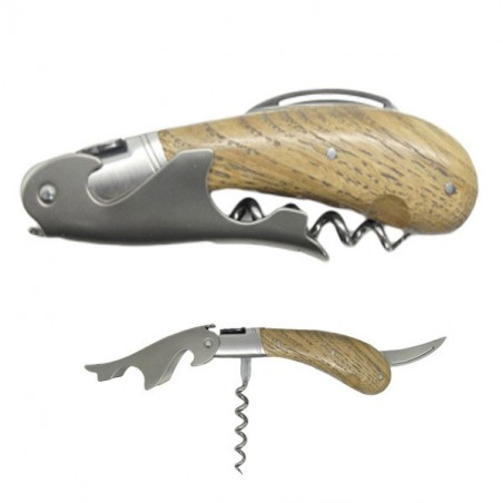 Laguiole Magnum corkscrew, oak handle