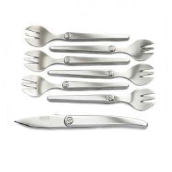 Servizio apri coltello ostriche e forchette