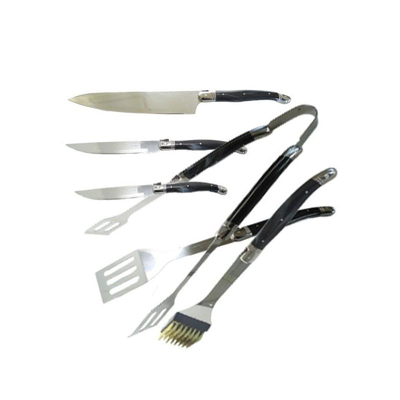Grill kit Laguiole: espátula, pinzas y tenedor