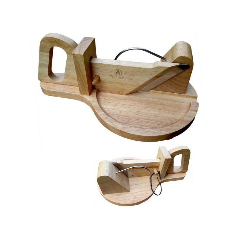 Guillotina Laguiole para salchichas, madera de hevea