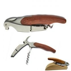 Laguiole Korkenzieher Nr. 2 - Doppelhebel, Griff aus exotischem Holz, mit etui