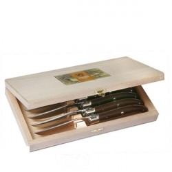 Coffret Excellence 6 couteaux Bois de Rose - inox