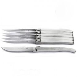 Coffret Excellence 6 couteaux inox massif brut de forge