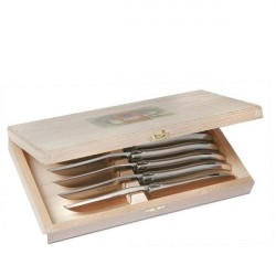 Coffret Excellence 6 couteaux inox massif mat
