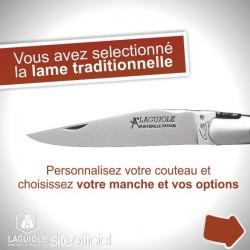 Couteau création Laguiole lame traditionnelle