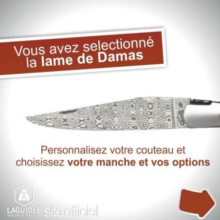 Couteau création Laguiole lame damas
