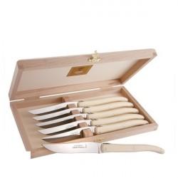 Coffret Grand Luxe 6 couteaux manche ivoirine